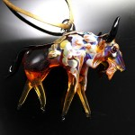 Wildlife Glass Sculpture ornaments by James Spehler are now available at Santa Fe Trail Jewelry.