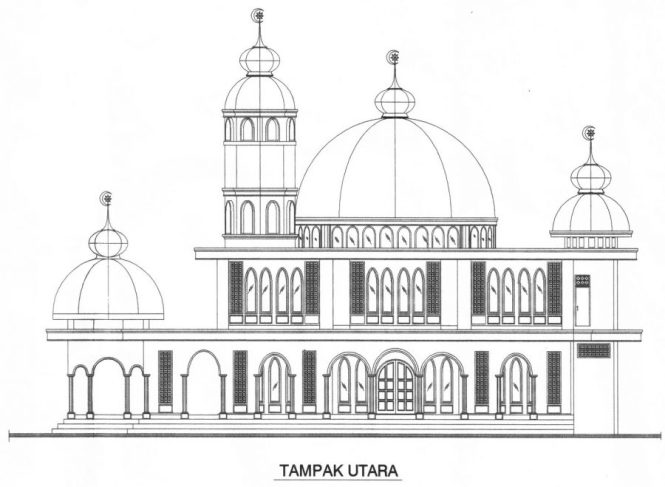 Download Gambar Sketsa Masjid Gallery Of Sketsa Minimalis Tampak