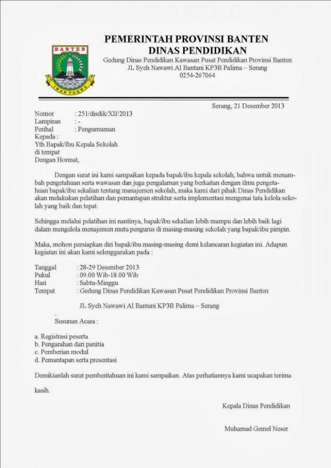 12 Contoh Surat Dinas Sekolah Perusahaan Kesehatan Dan Pemerintah