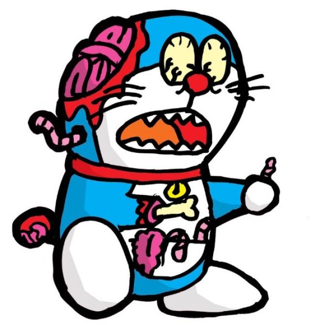 Gambar Doraemon Zombie