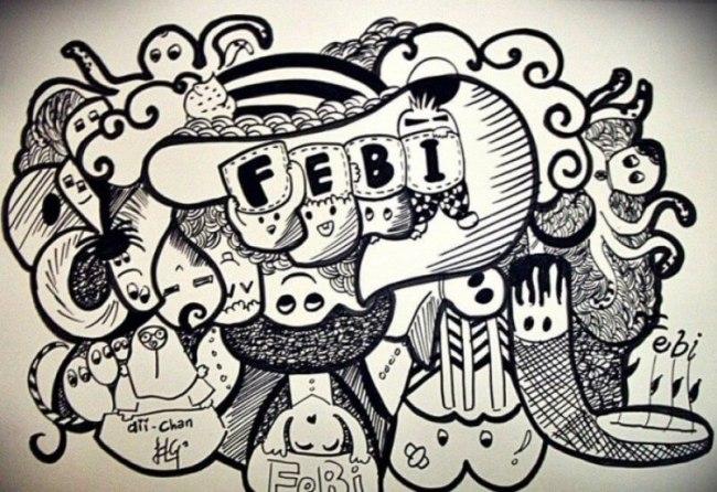 Gambar Grafiti Tulisan tangan