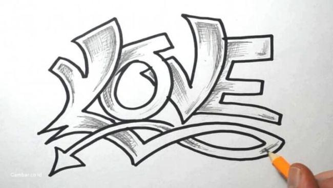 Gambar Grafiti Tulisan