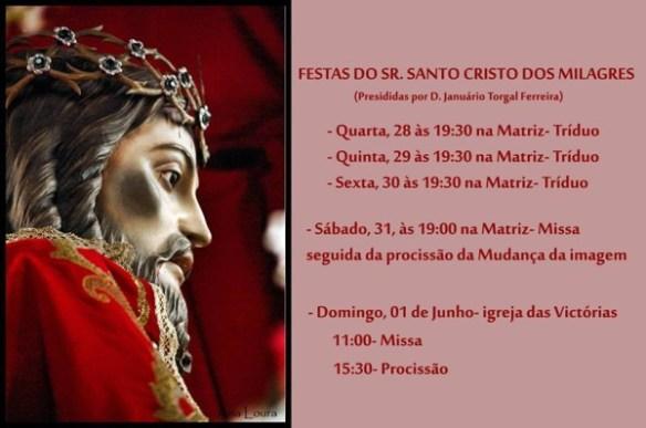 Festas em honra do Senhor Santo Cristo dos Milagres em Santa Maria