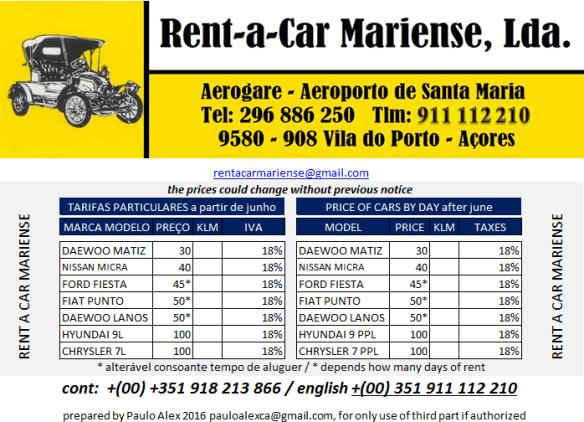 Tarifa-verao-rent-a-car-mariense-santa-maria-azores-car-rentals