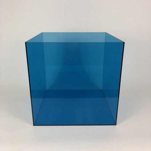 Colored Acrylic 5 Sided Box – Blue