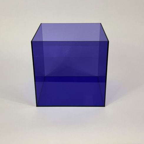 Colored Acrylic 5 Sided Box – Purple