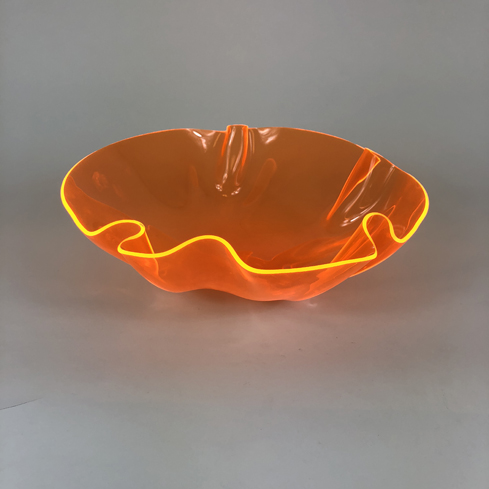 Colored Acrylic Bowls – Orange Florescent