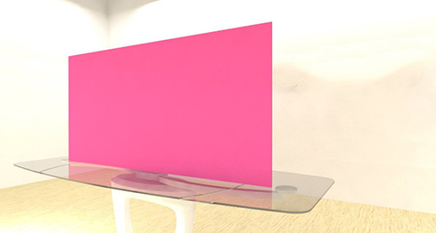 Acrylic Sheets – Cut To Size –  Opaque Bright Bubblegum Pink – S991