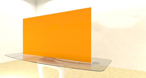 Acrylic Sheets – Cut To Size –  Opaque Tangerine Orange – S2564