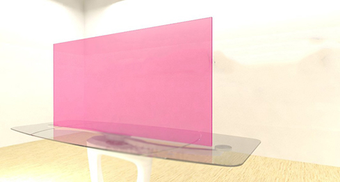 Acrylic Sheets – Cut To Size –  Transparent Taffy Pink – S9913