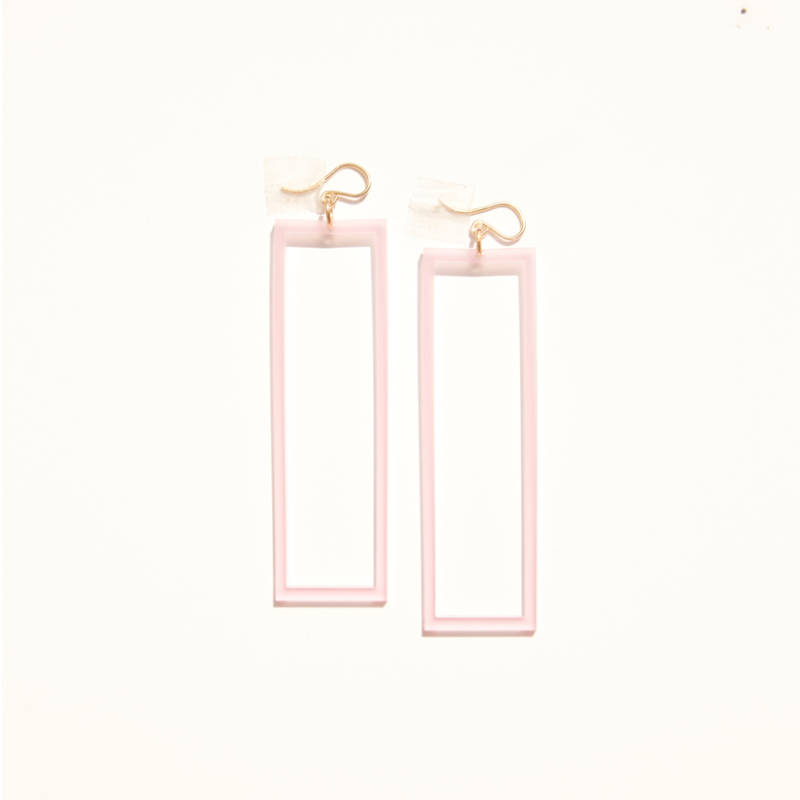 Alexis Drop Earring – Baby Pink