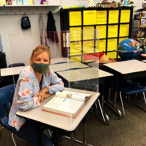 Economy Clear Acrylic/Plexiglass Student Desk Shield