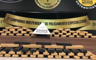 Homem é detido com 80 kg de maconha