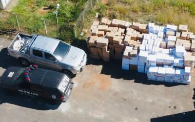 Polícia recupera carga de sapatos avaliada em R$500 mil na MG-431