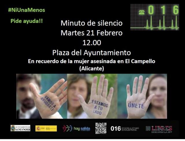 Minuto de silencio víctima de violencia de género El Campello (Alicante)