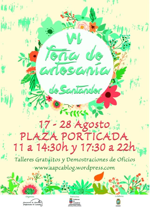 La VI Feria de Artesanía de Santander se instala del 17 al 28 de agosto en la plaza Porticada