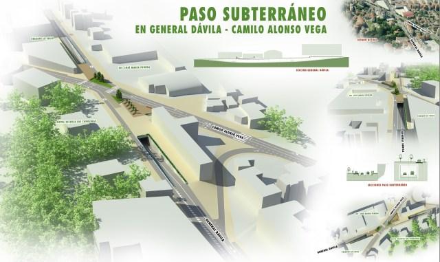 Autorizada una partida de 7,2 millones para financiar el paso inferior de General Dávila