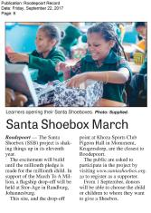 Record_Roodepoort_22 September_Santa Shoebox