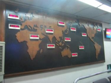 Pasaules karte ar pulksteņlaikiem!