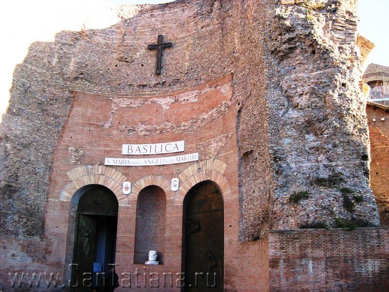 Базилика Santa Maria degli Angeli – самая необычная церковь в Риме (5/6)