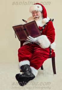 Santa True finds so many names on the Nice List!