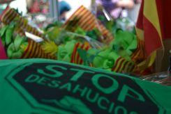 El verde de la PAH, presente en Sant Jordi // Elisenda Colell
