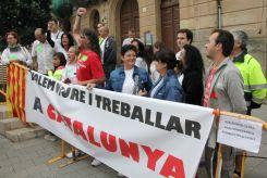 Els treballadors de Valeo han protestat contra el tancament de la seva planta de Martorelles // David Guerrero