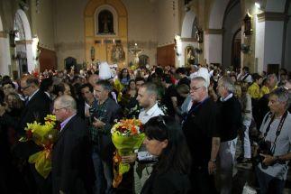L'església de Sant Baldiri s'ha omplert de ciutadans // David Guerrero