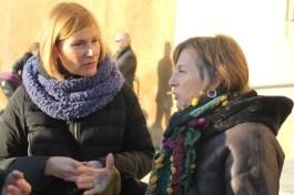 Lluïsa Moret i Carme Forcadell han participat a l'Esmorzar de Pagès que inicia la Fira de la Puríssima // Jordi Julià