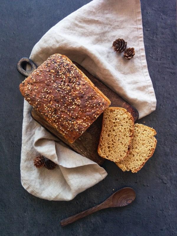 56 recettes IG bas et végétariennes _ santé et gourmandise _ pain de mie à l'épeautre