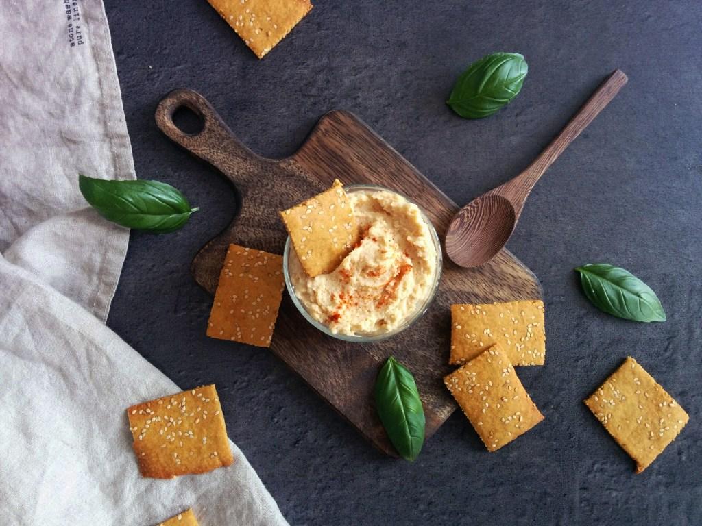 Crackers IG bas, vegan et sans gluten _ santé et gourmandise