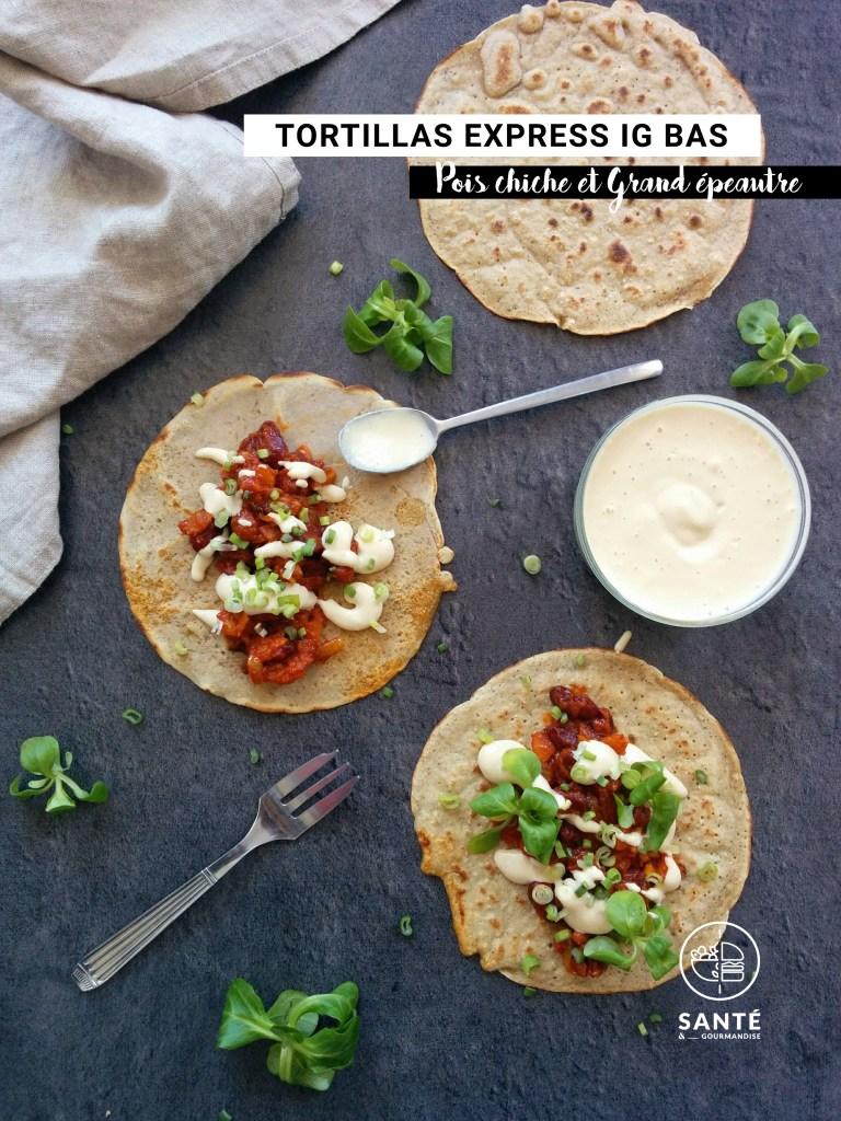 Tortillas express à IG bas _ santé et gourmandise