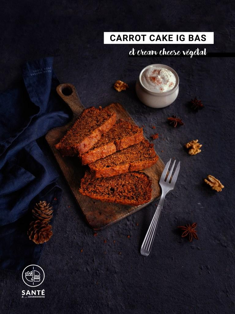 Carrot cake IG bas _ santé et gourmandise