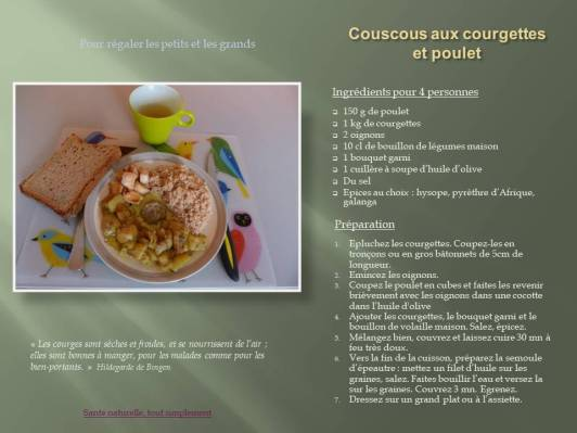 Couscous aux courgettes et poulet