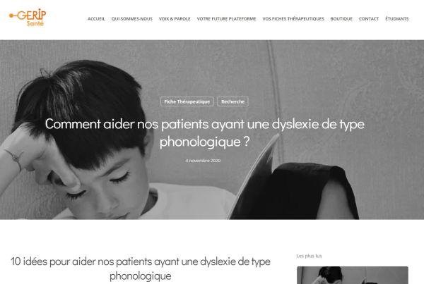 DYSLEXIE PHONOLOGIQUE orthophonie
