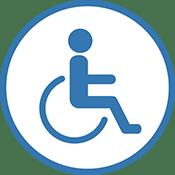 Picto handicap fauteuil roulant