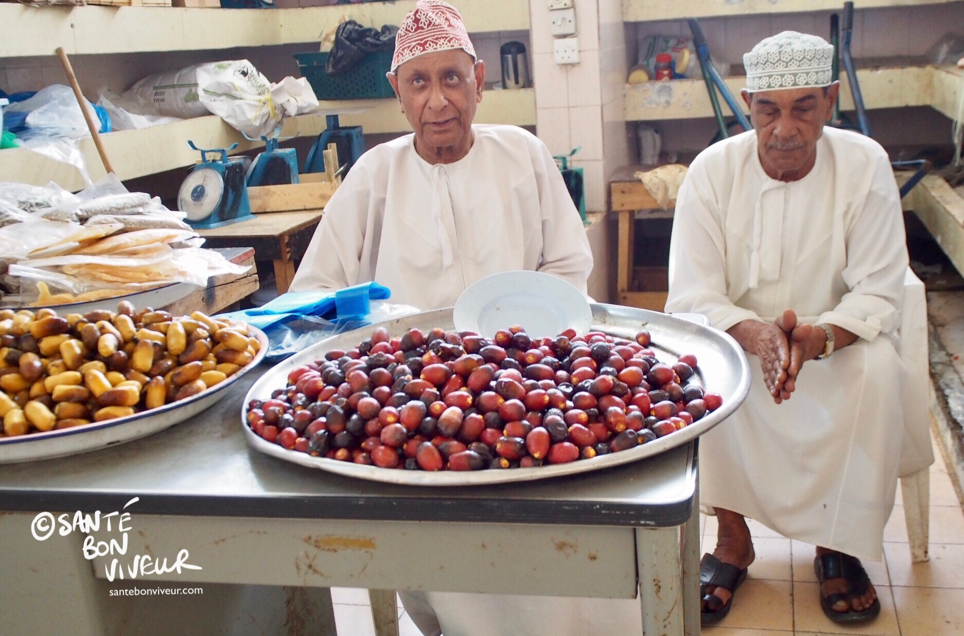 Date sellers in the Fruit & Vegetable Souq, downtown Muscat, Oman