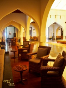 The lobby at the Chedi hotel, Muscat