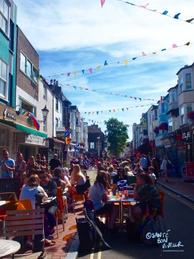 North Laine cafés are always busy and buzzy on a summer's weekend