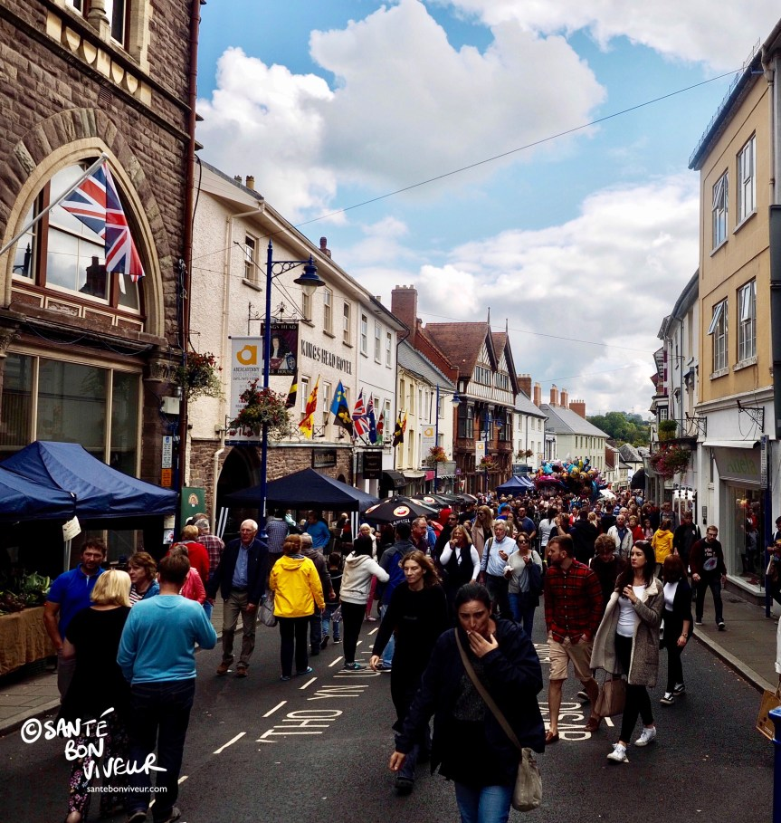 Cross Street, Abergavenny Food Festival, Wales, UK, 2017