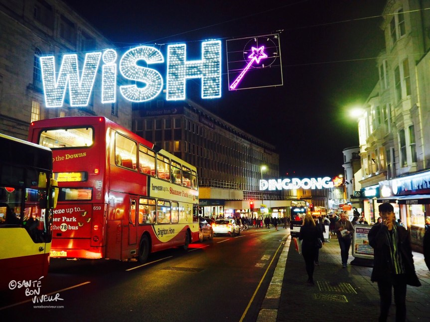 Wish + Wand, Christmas Lights, North Street, Brighton, England, UK, 2017