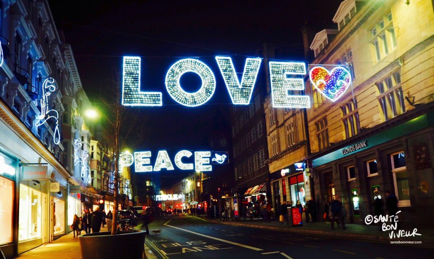 Love + Heart + Peace + Dove, Christmas Lights, Brighton, England, UK, 2017