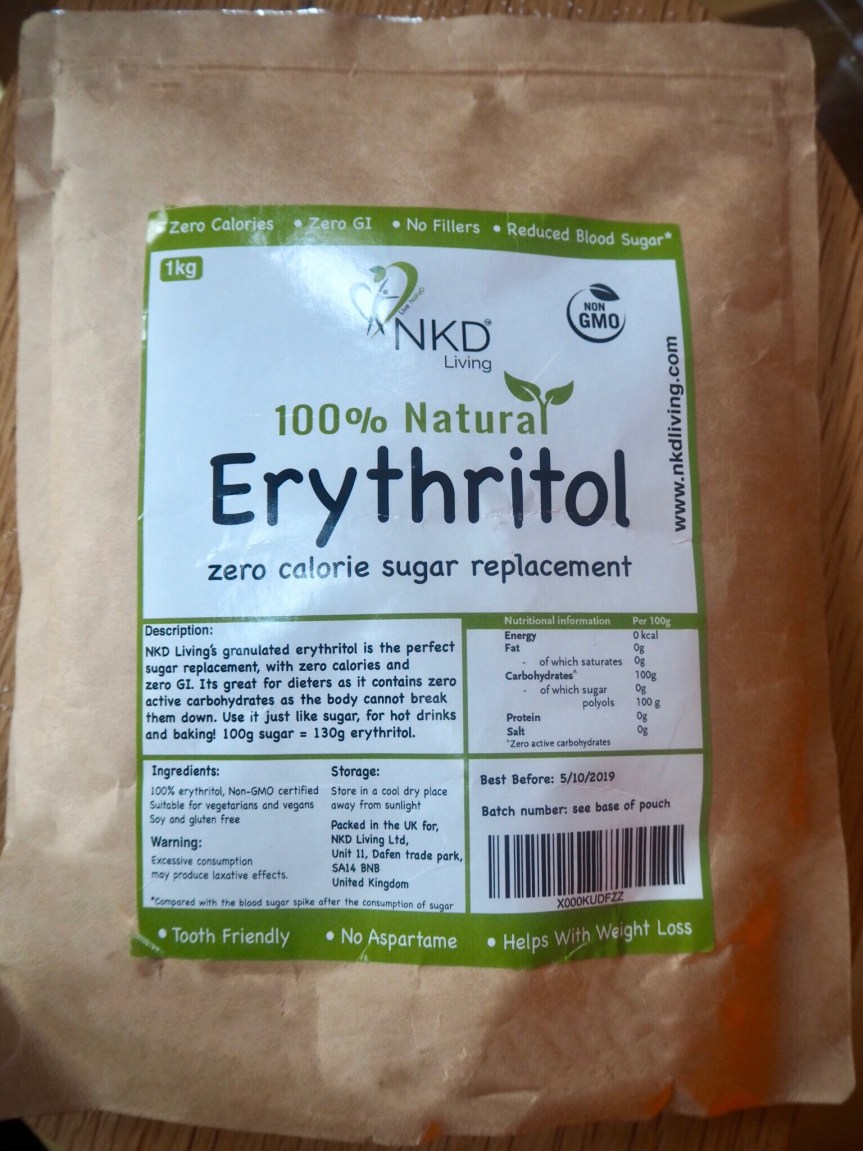 NKD Living Erythritol White Granulated Sugar Substitute