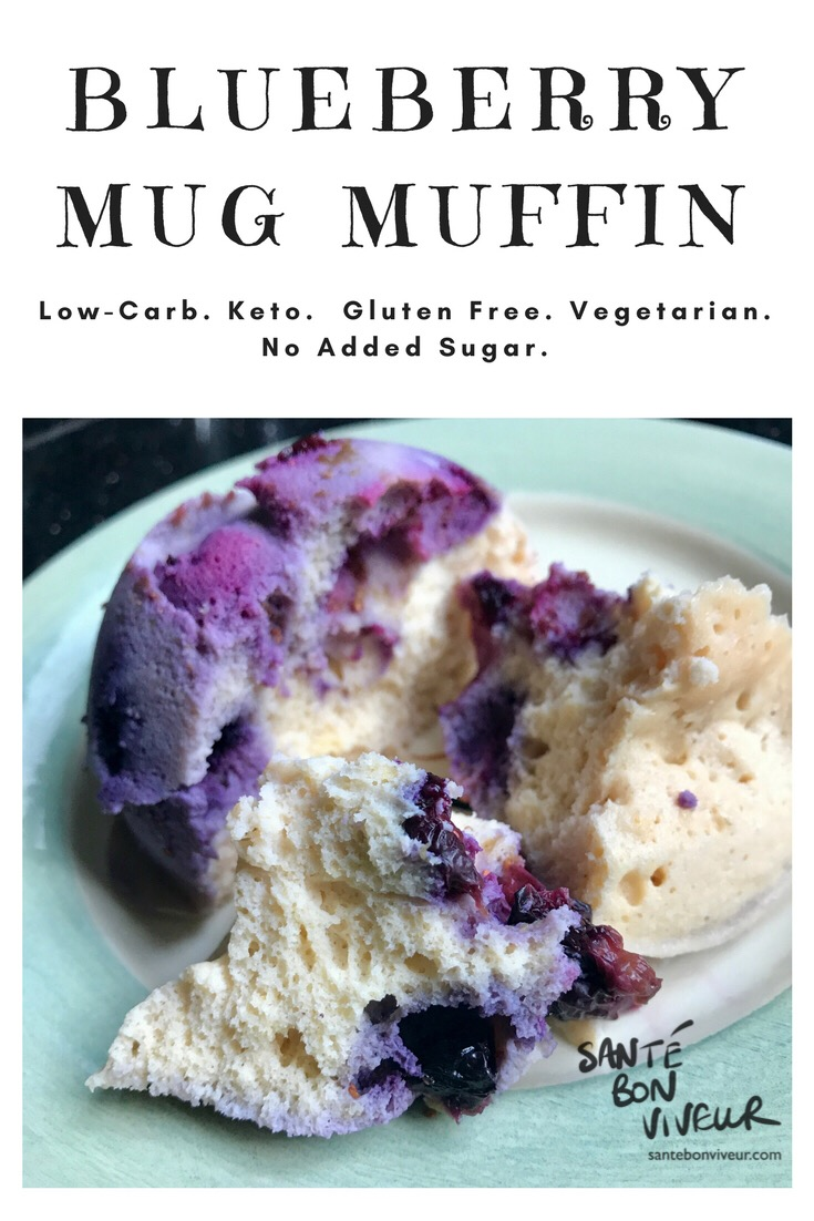5-Minute Low-Carb Blueberry Mug Muffin