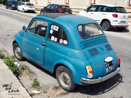 I haven't seen one of these for many years! - an old Fiat 500!
