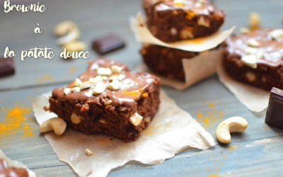Brownie à la patate douce (vegan, sans gluten, sans sucre)