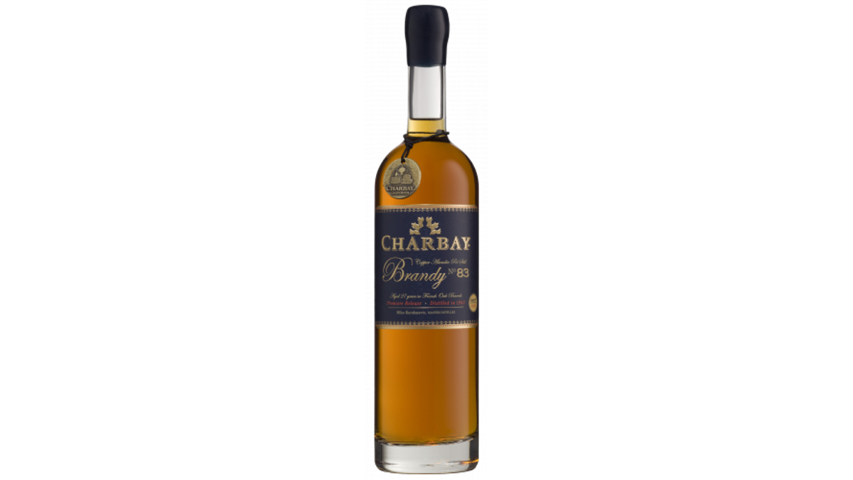 Bottle of Charbay No. 83 brandy