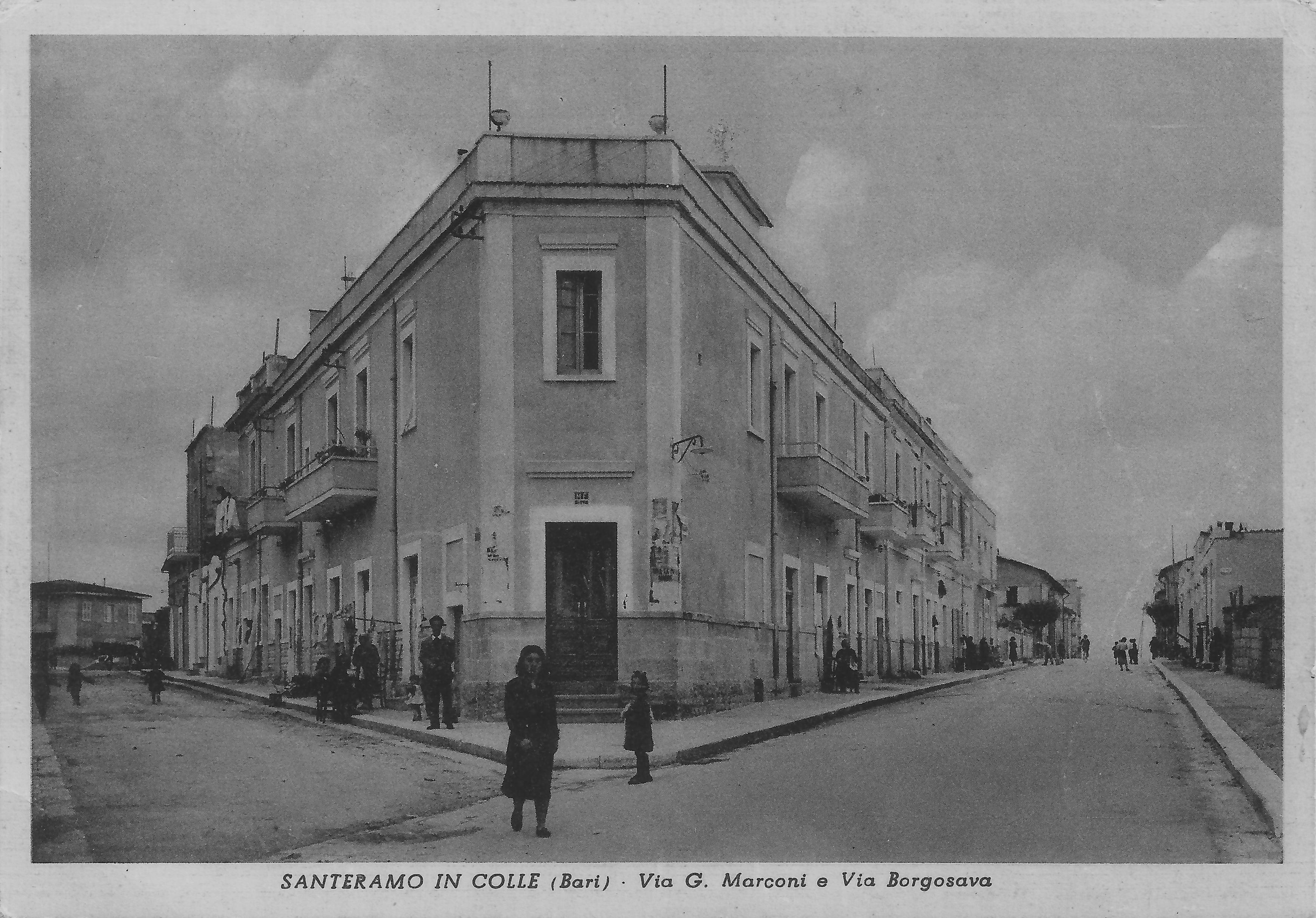Via Marconi e Via Borgo Sava negli anni '60