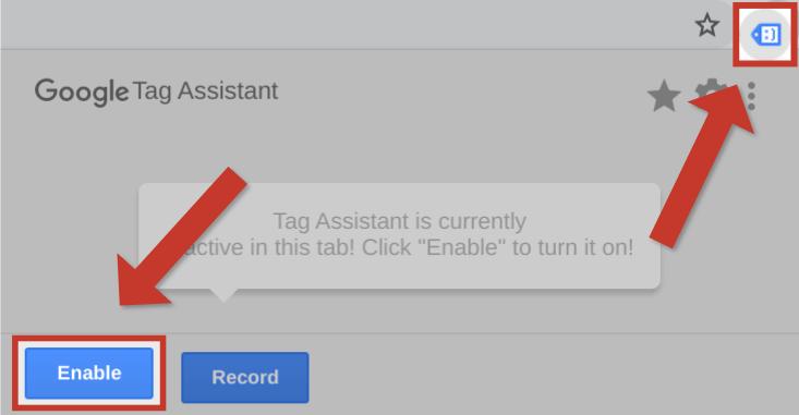 Aloita Google Tag Assistant