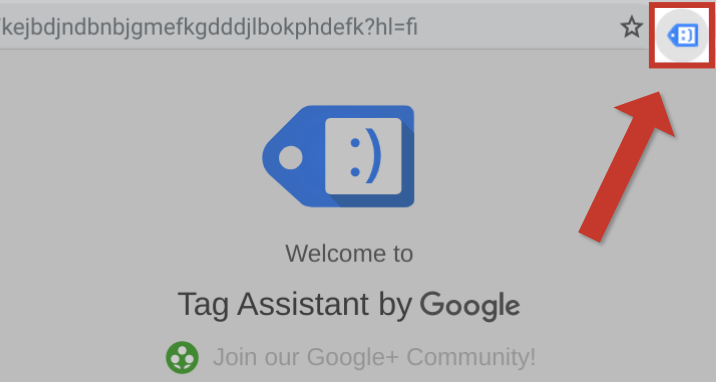 Avaa Google Tag Assistant